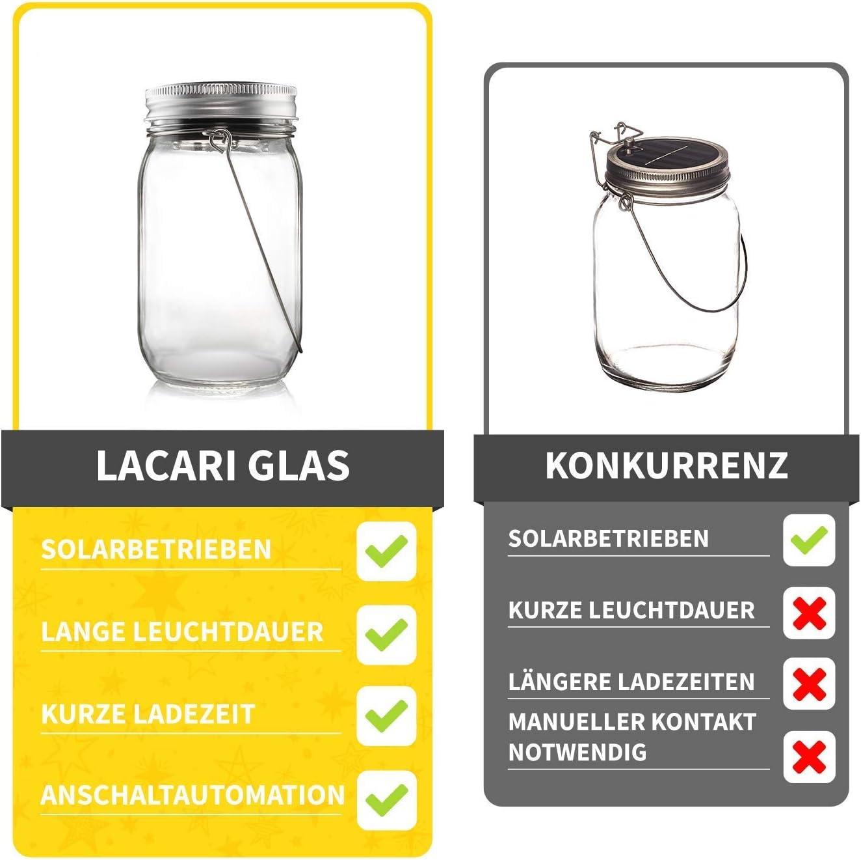 Wasserdichte Lacari ® Original Solarglas Auch Als Gartenleuchte Hängeleuchte