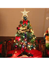 20 miniature pine christmas tree with hanging ornaments green tabletop christmas tree with lights - Christmas Trees With Lights