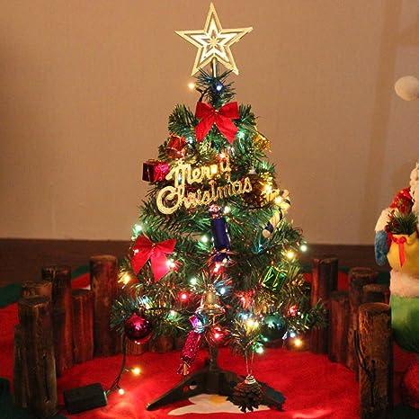 50 Cm Albero Di Natale Di Pino Miniatura Con Gli Ornamenti Du0027attaccatura,  Verde