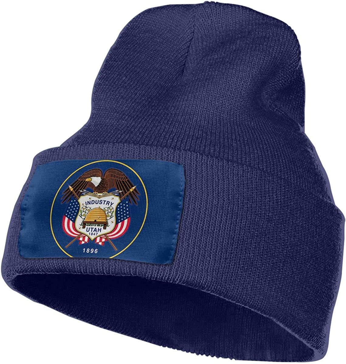 JimHappy Flag of Utah Hat for Men and Women Winter Warm Hats Knit Slouchy Thick Skull Cap