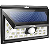 Litom 24 LED Solar Lights Outdoor, Super Bright Motion Sensor Lights Wide Angle with 6 LEDs Wireless Waterproof Security Lights for Wall, Driveway, Patio, Yard, Garden