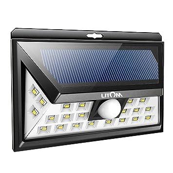 Captivating Litom 24 LED Solar Light, Super Bright Motion Sensor Outdoor Lights Wide  Angle With 6