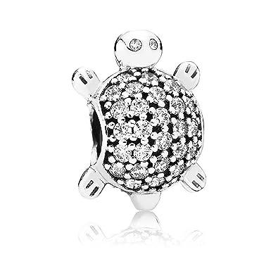 70520a913 Amazon.com: Pandora Women's Charm Sea Turtle 791538CZ, Silver: Jewelry