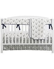 Baby Boy Crib Bedding White Grey Arrow Antlers Deer Head Minky Blanket Navy Crib Sheet Deer Buck Crib Rail Bedding Set