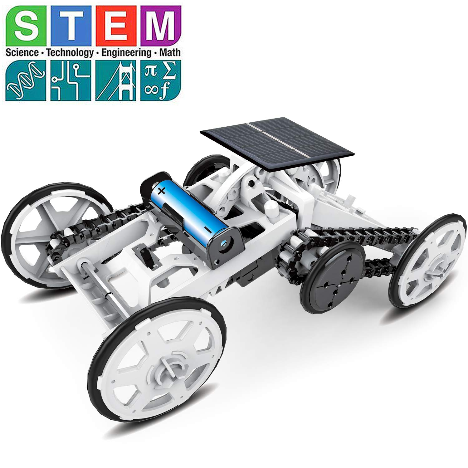 Sillbird STEM 4WD Car DIY Climbing Vehicle Kit Electric Mechanical / Solar Power Science Building Toys, Circuits Engineering Gift Toys Car for Kids and Teens. by Sillbird