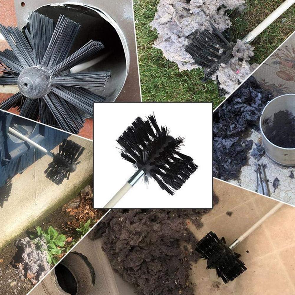 Utilizado para Limpiar la Estufa Cepillo para Limpieza de tuber/ías Cepillo para Chimenea de Nailon That Cepillos para Chimenea Kit de Limpieza de conductos para Secadora de Longitud Ajustable