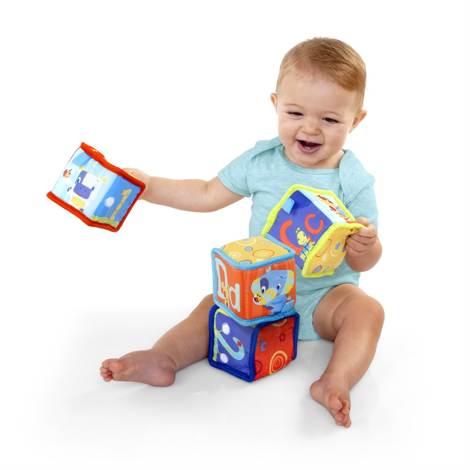 Amazon Bright Starts Grab and Stack Blocks Toy Sorting And