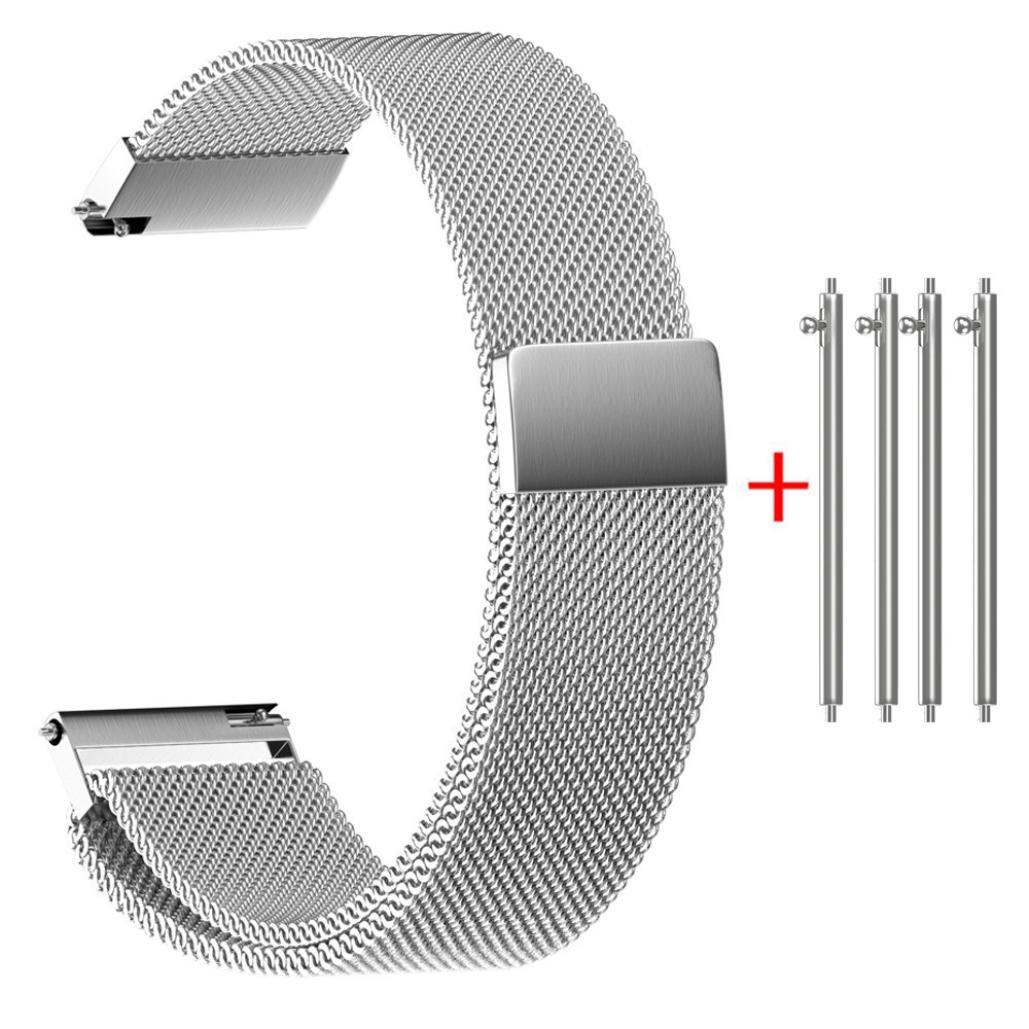 ホットセールsiviki Milanese磁気ループステンレススチール時計ストラップバンド22 / 20 / 18 / 16 / 14 mm 20 シルバー 20|シルバー シルバー 20 B07C3JRQBL