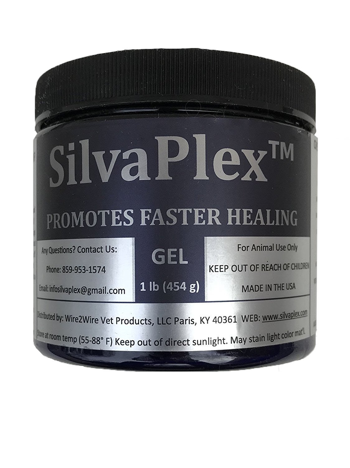 1 lb SilvaPlex WoundCare with patented COMPLEX Ag 21, Antimicrobial Chitosan-Silver by SilvaPlex Gel (Image #1)
