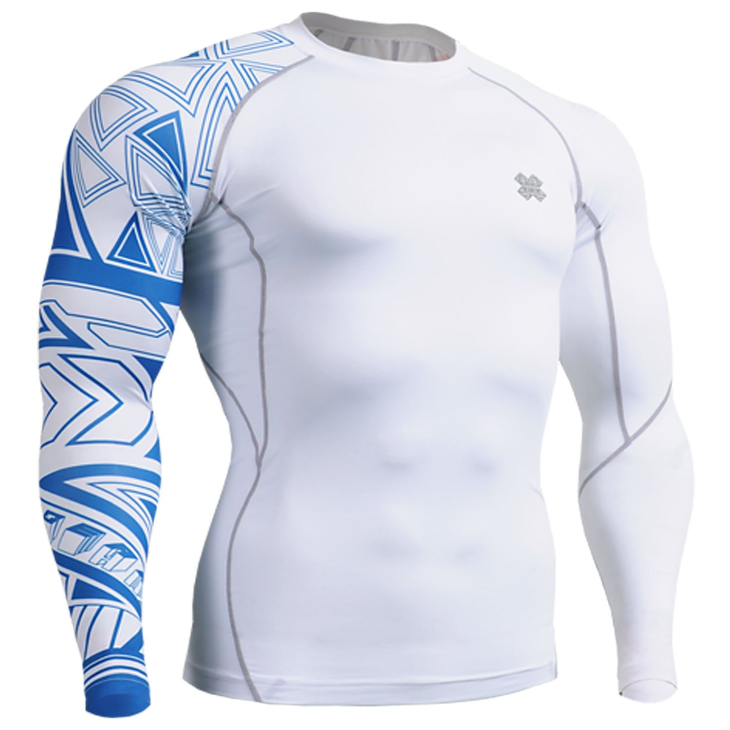 Fixgear white Running under compression body armour base layer shirt long sleeve