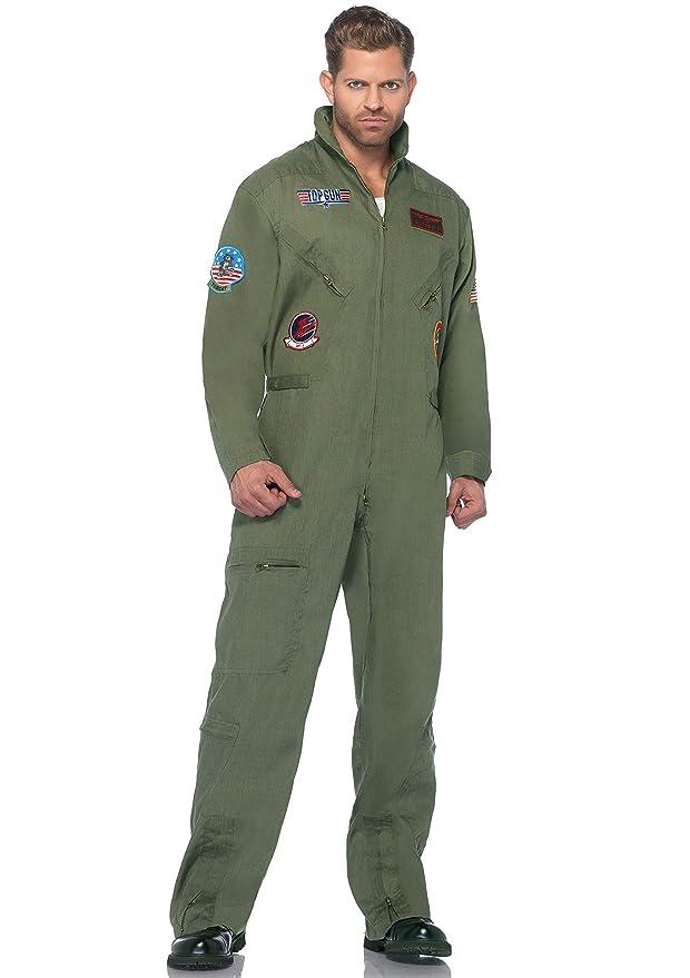 Amazon.com: Leg Avenue Top Gun Flight - Traje de vuelo para ...