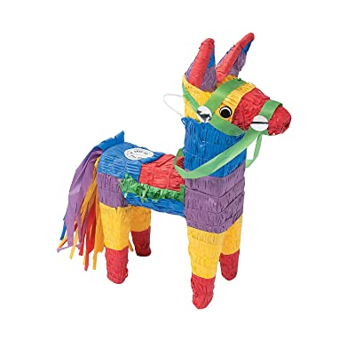 Fun Express - Donkey Pinata for Cinco de Mayo - Party Decor - General Decor - Pinatas - Cinco de Mayo - 1 Piece: Toys & Games
