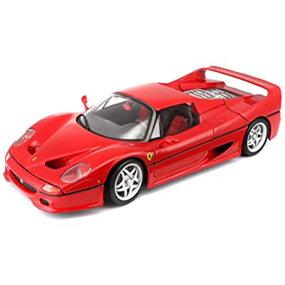 Bburago 1:18 Scale Ferrari Race and Play F50 Diecast Vehicle (Colors May Vary): Toys & Games