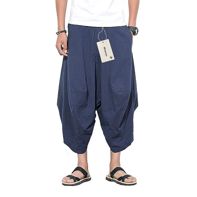BOLAWOO Pantalones Harén De Los Hombres Laterales con Cortos Pantalones  Bolsillos con Cordón Mode De Marca Pantalones Casuales De Color Sólido  Pantalones ... 8019a4219413