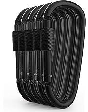 5//10pcs Aluminum Carabiner D-Ring Key Chain Clip Camping Keyring Snap Hook Tool