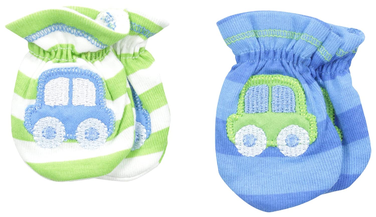 Gerber Baby Boys' Car-Themed 2 Pack Mittens Blue 0-3 Months Gerber Children' s Apparel 81857216AB1503I