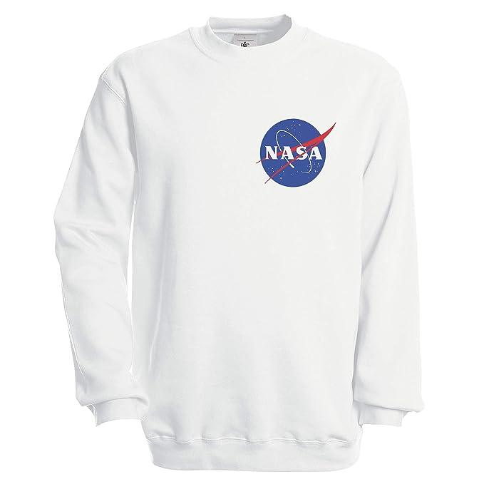 NASA Space Astronaut Geek Nerd Small Logo Sudadera Unisex: Amazon.es: Ropa y accesorios