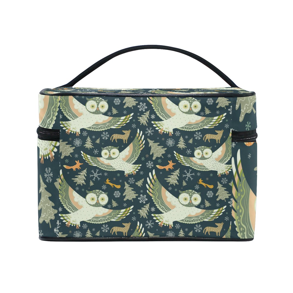 Owl Pattern Print Cosmetic Bags Travel Makeup Toiletry Organizer Case