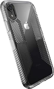 Speck Products Presidio Perfect-Clear with Grip Case, Compatible with iPhone XR, Clear/Clear (136260-5085)