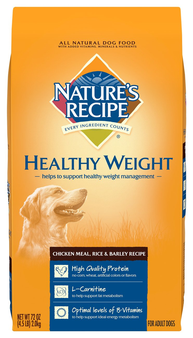 4.5 -Pound Nature's Recipe Healthy Weight Dry Dog Food,  cken Meal, Rice -, Barley Recipe, 4.5 -Pound