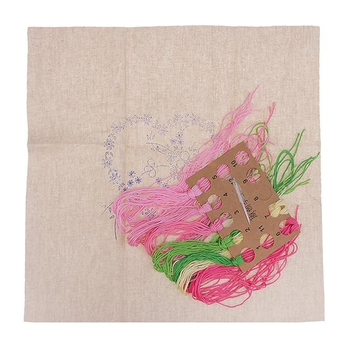 Tela de Bordado Hilos de Bordar Pines de Coser D DOLITY Kit de Pintura Bordada