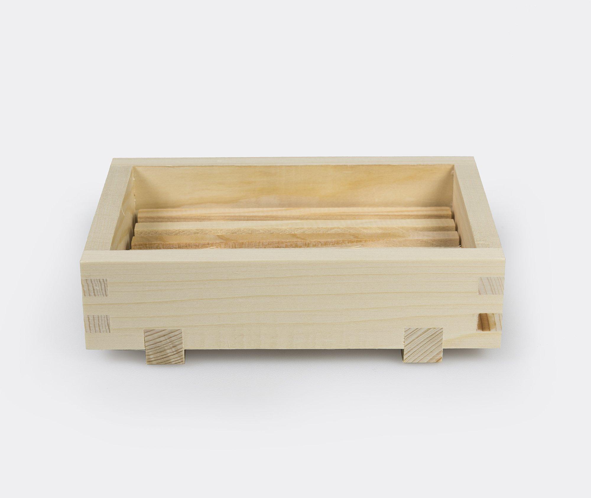 Yamashita Kogei Hinoki Cypress Wooden Soap Dish - Japanese Onsen Hot-Spring Style Tray