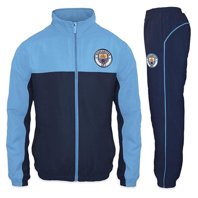 Manchester City FC - Chándal oficial para niño - Chaqueta y pantalón largos   Amazon.es  Ropa y accesorios ad93625b15cc7