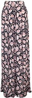 product image for Heidi Merrick Womens Floral Print Pleated Trousers Black Dahlia, Blue Dahlia 6, 10
