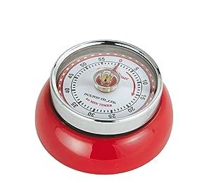 Zassenhaus M072327 Retro Magnetic Kitchen Timer Red