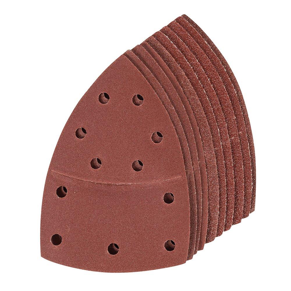 Silverline Tools 380895 Hook & Loop Multi-Sander Sheets 102 x 62mm, 93mm 10pk - Red