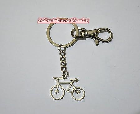 delicatepresentjewelry bicicleta llavero, plata bicicleta llavero ...