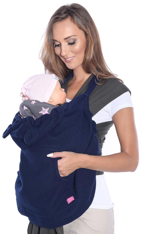 Mija - Tragecover, Universal Bezug für Baby Carrier/Tragetücher / Cape 4023 (Graphite) Mija Arts
