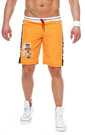 87S3 Geographical Norway Quino Herren Polo Badehose Badeshorts Orange Gr. S