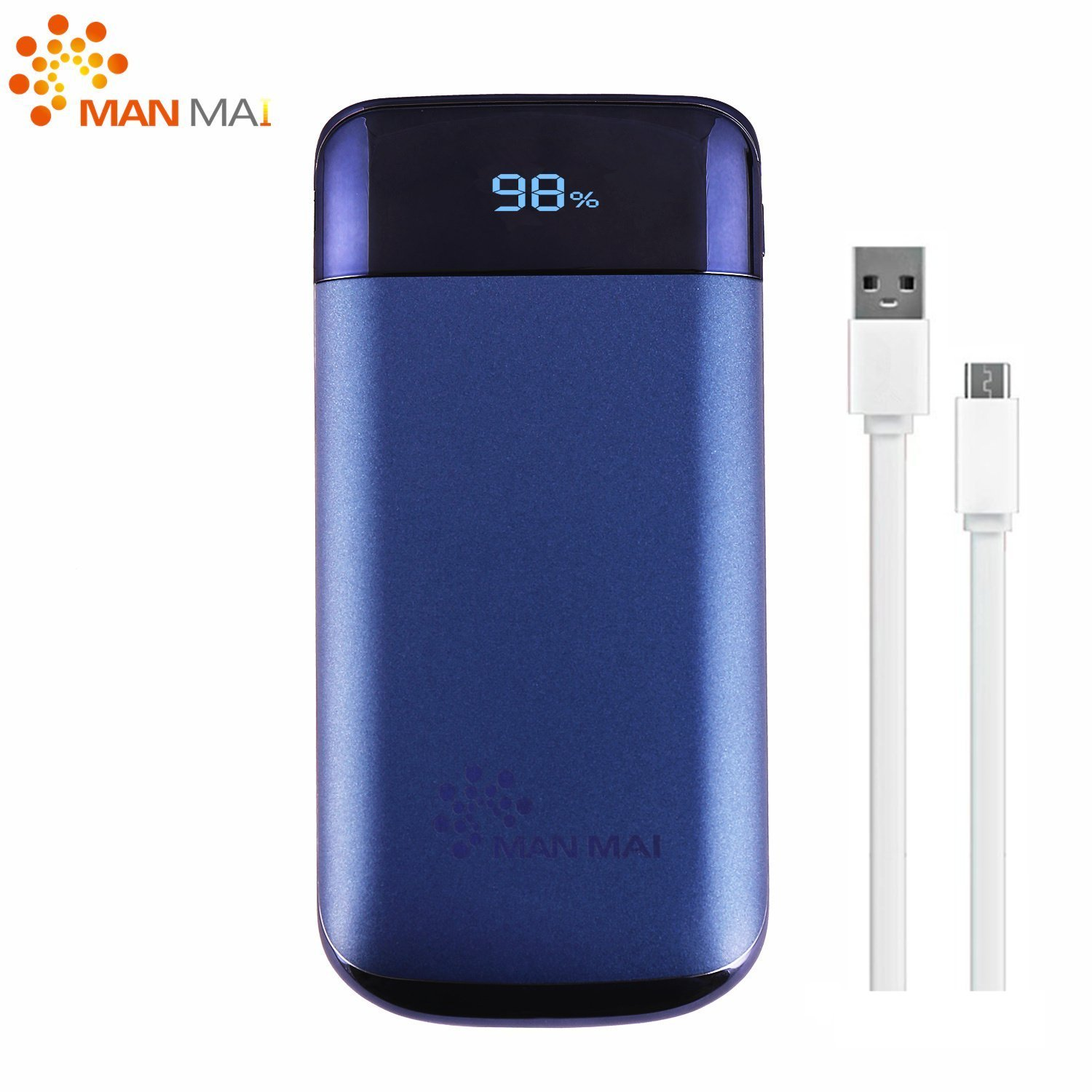 KUPPET 20000mAh Power Bank (Dual USB Port, 3.1A Total) External Portable Charger Battery Pack Portable Charger with LED Flashlight for iPhone 7, iPhone 8,iphone X,iPad Pro, Galaxy S8 Note8 and More by KUPPET (Image #3)