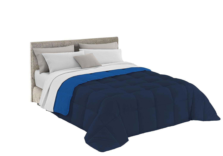 Italian Bed Linen, Colcha de Invierno Elegant, 1 Plaza, 170x260 cm, Azul Oscuro/Azul Royal Datex Trade s.r.l. T-EL-blu scuro/blu royal-1P