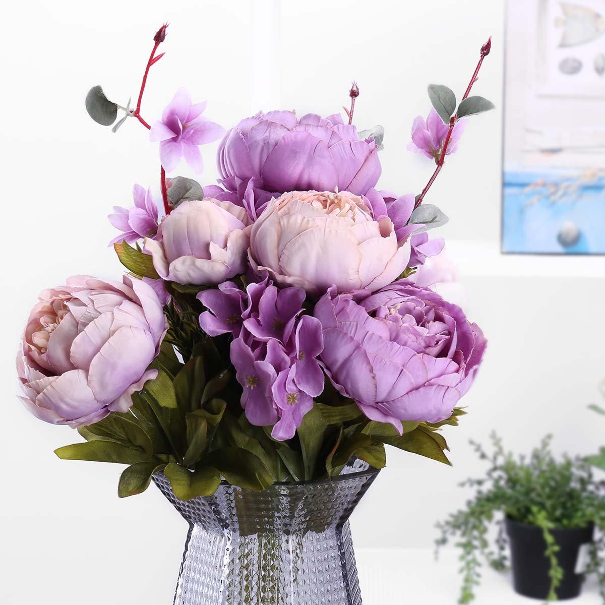 Judy Silk Flowers Peonies Outdoor Artificial Flower Arrangements