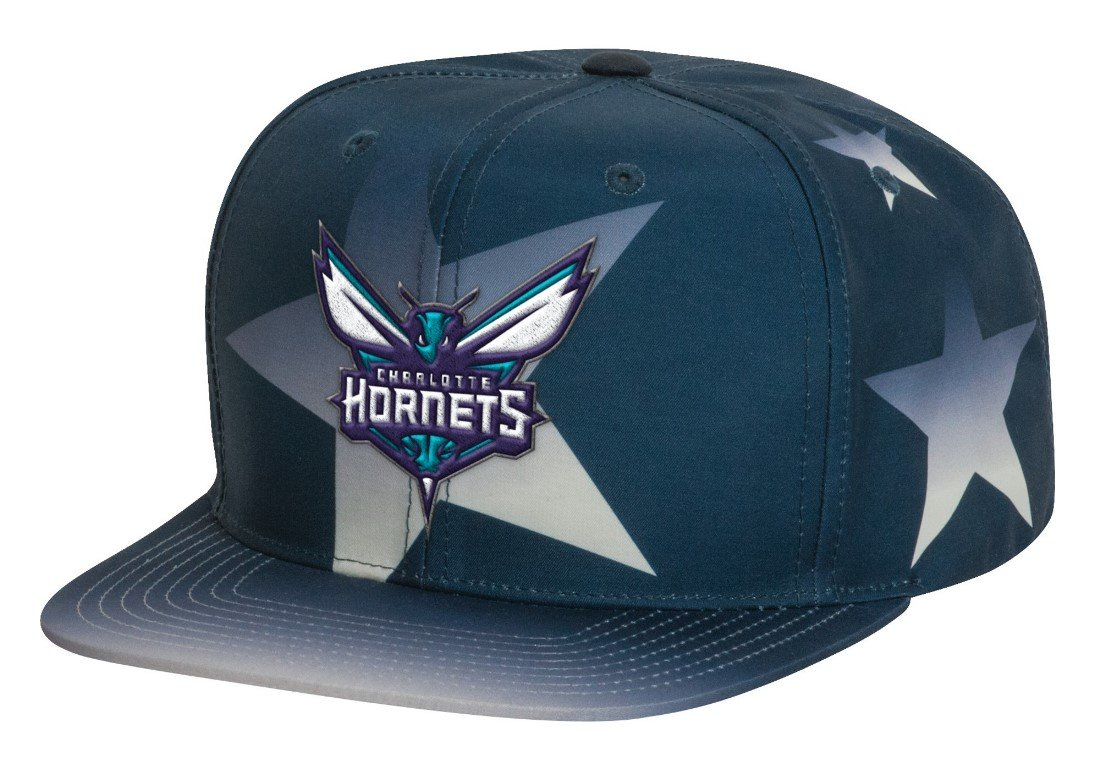 Charlotte Hornets Mitchell & Ness NBA Award Ceremony Snap Back Hat Cappello