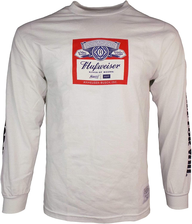Graphic Cotton T Shirt Short /& Long Sleeve Budweiser Label