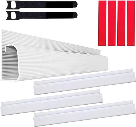 """Kit Cable Canal J – Sistema Organizador de Cables de Computadora de Escritorio – 4x16"""" (10x40.60cm) Bandejas para Debajo del Escritorio, Organizadoras de Cables, para la Oficina y el Hogar. (Blanco): Amazon.es:"""