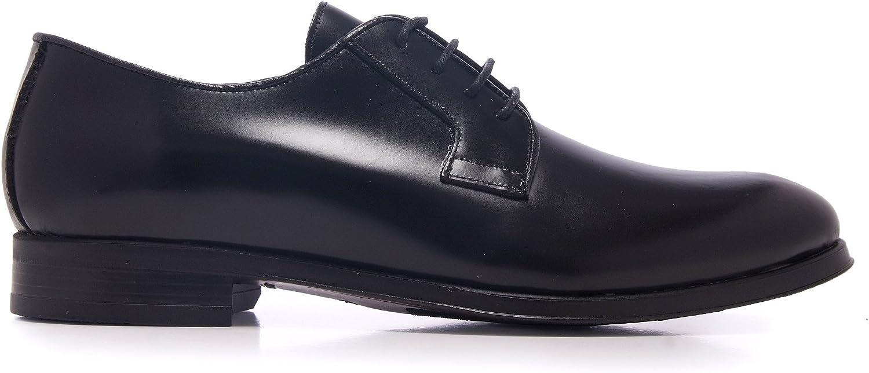 TALLA 40 EU. Castellanísimos Zapato Hombre en Negro de Piel Estilo Blucher con Cordones