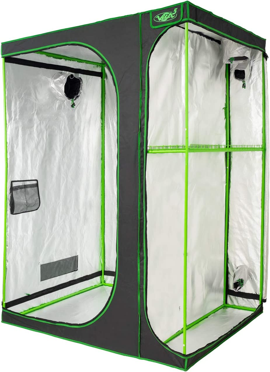 VITA5 Armaro Cultivo 2-in-1   Armarios Cultivo Interior   Lona Resistente a Prueba de luz y de rasgaduras   Impermeable Grow Tent   (150x120x200cm)
