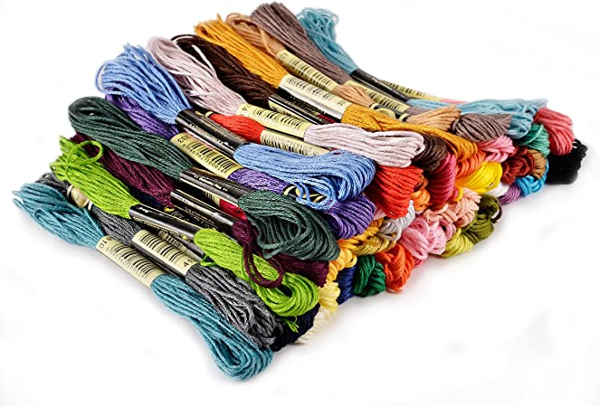 50 /échevettes de Fil pour broderie point de croix tricotage corchet multicolores