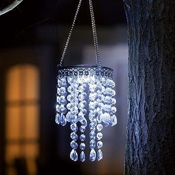Kristall Kronleuchter Solar Light: Amazon.de: Garten