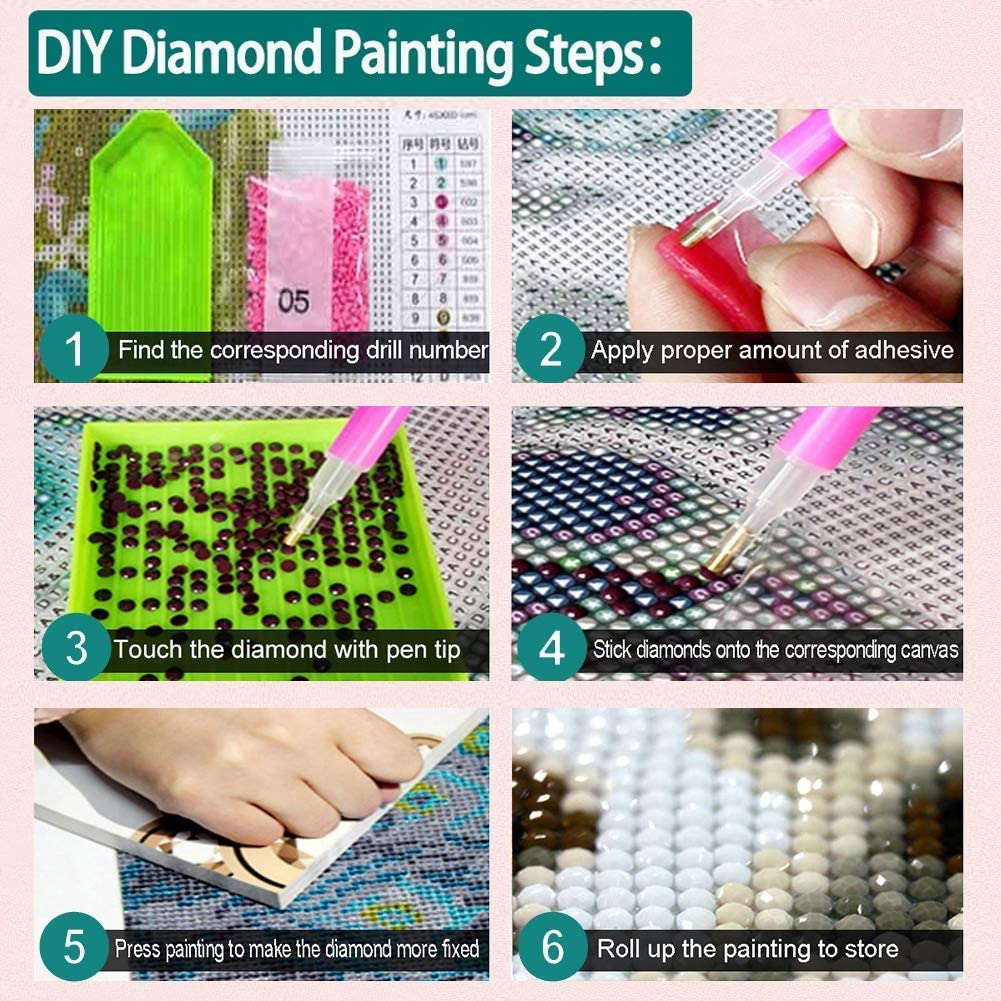 DIY 5D Diamond Painting Kits Perfect for Parent Child Activity and Child Gift(Stitch,12x16inch) Full Drill Diamond Painting with New Upgrade Toolkit