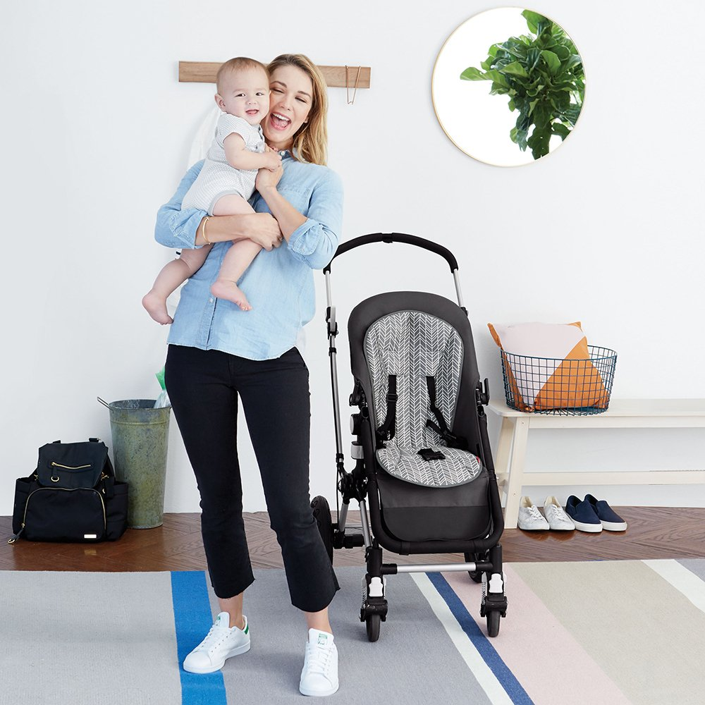 Skip Hop Stroll-and-Go Cool Touch Stroller Liner, Grey Feather by Skip Hop (Image #6)