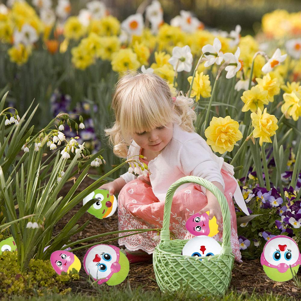 LUKAT Plastic Easter Eggs, Baby Toddler Easter Gifts, Stacking Toys and Nesting Playset Toy for Kids Boys Girls by LUKAT (Image #5)