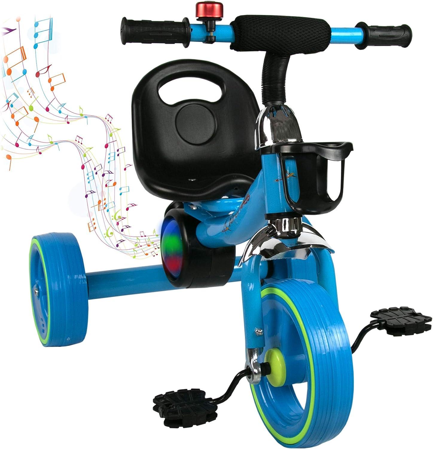 Airel Bici Correpasillos   Triciclos para Niños   Triciclo con Asiento   Bicicleta de Equilibrio con Pedales   Triciclo Bici con Sonido