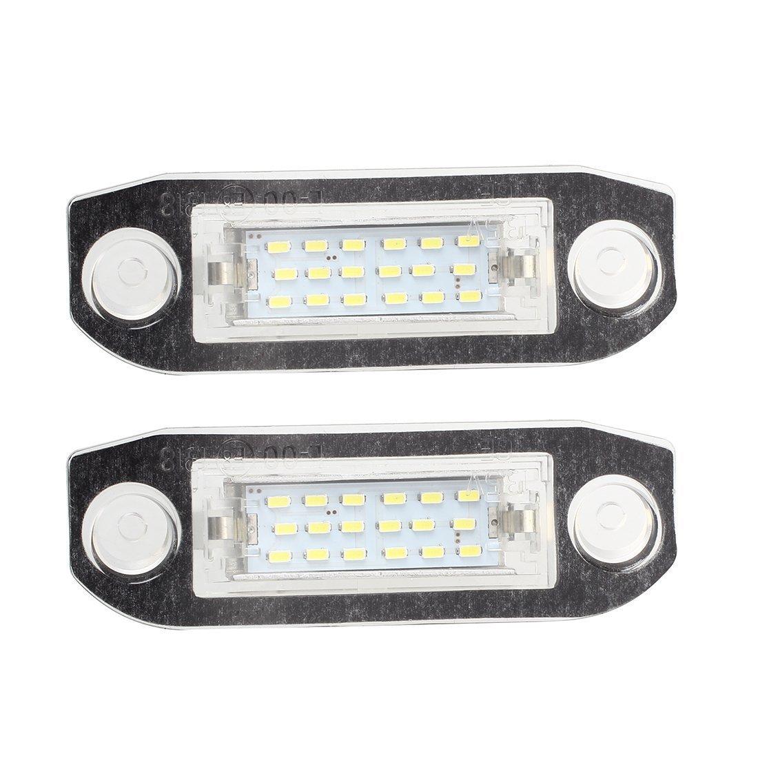 License Number Plate LED Light - TOOGOO(R) License Number Plate LED Light White FOR Volvo C70 S40 S60 V50 V60 V70 XC60 XC90 058873
