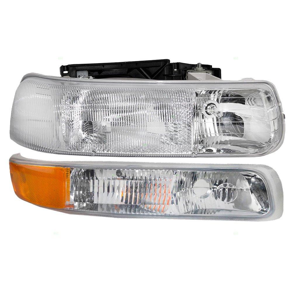 Passengers Headlight & Side Signal Marker Lamp Replacement for Chevrolet Pickup Truck SUV 16526134 15199559 AUTOANDART.COM 4333263825