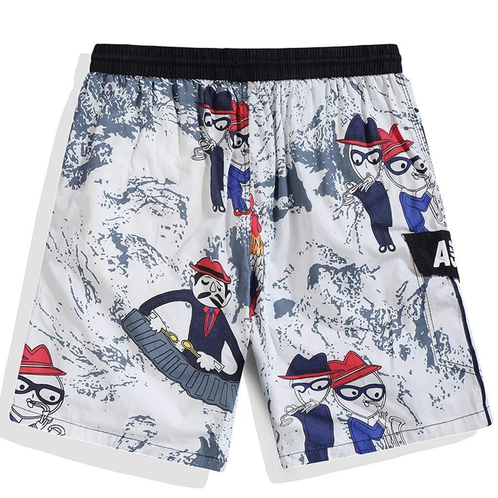 Dumanfs Fashion Men Casual Shorts Beach Casual Quick-Drying Swimming Swimwear Shorts